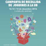 La Universitat de Barcelona recull més de 700 joguines per Nadal