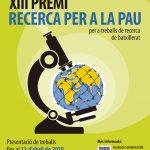 La Universitat de Barcelona convoca el XIII Premi de Recerca per a la Pau
