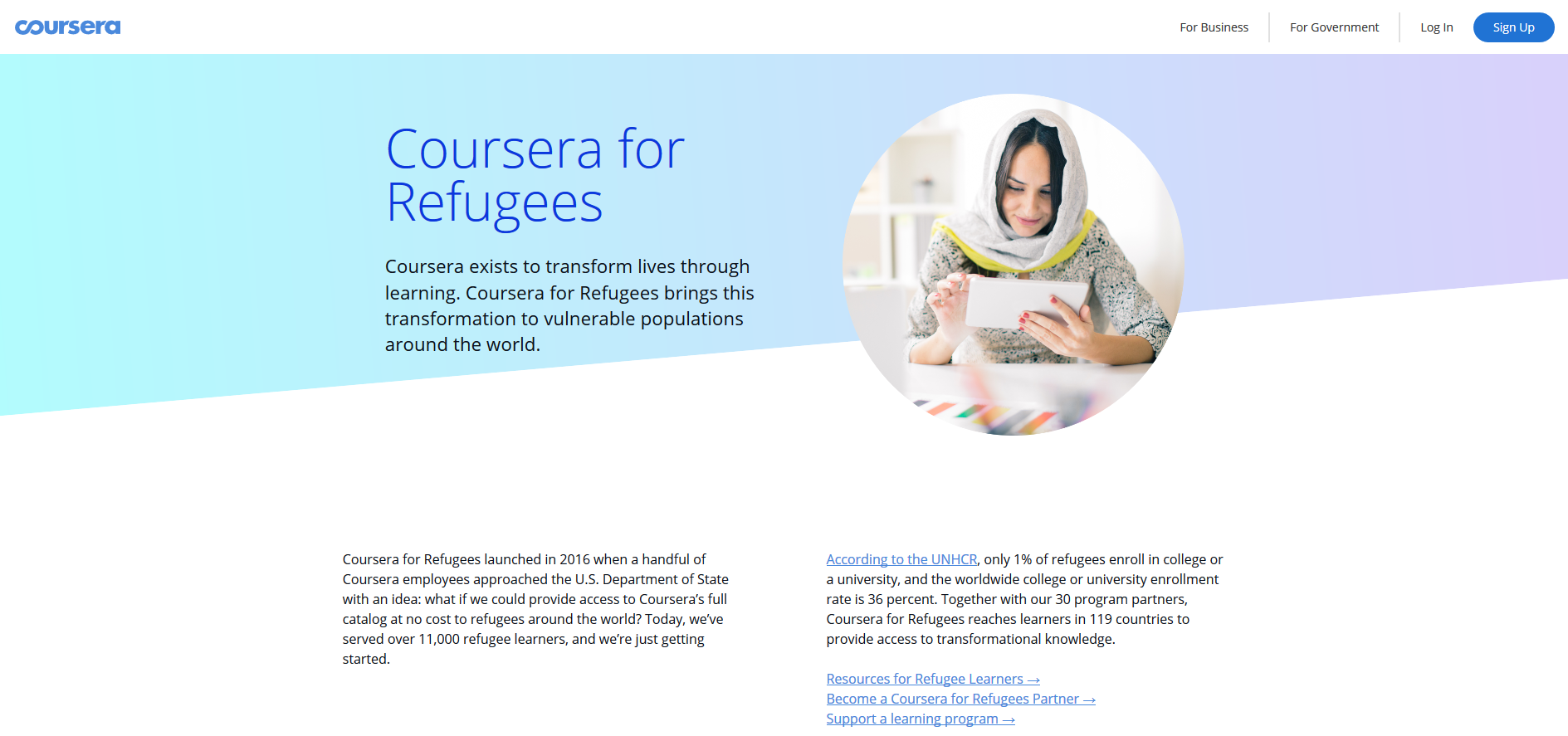 Coursera for Refugees