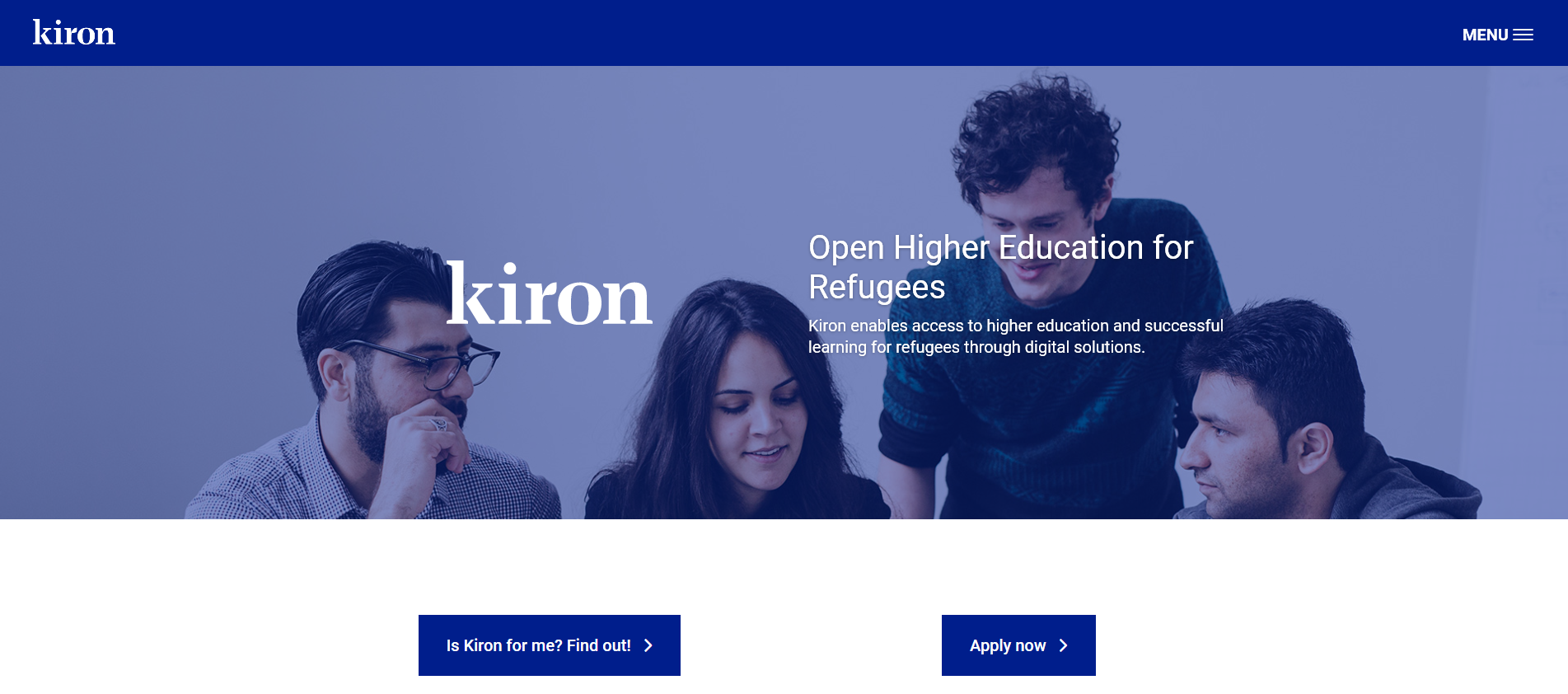Kiron (Open Higher Education for Refugees)